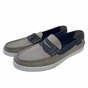 Cole Haan Nantucket Loafer Slip On Shoes Gray 11 M
